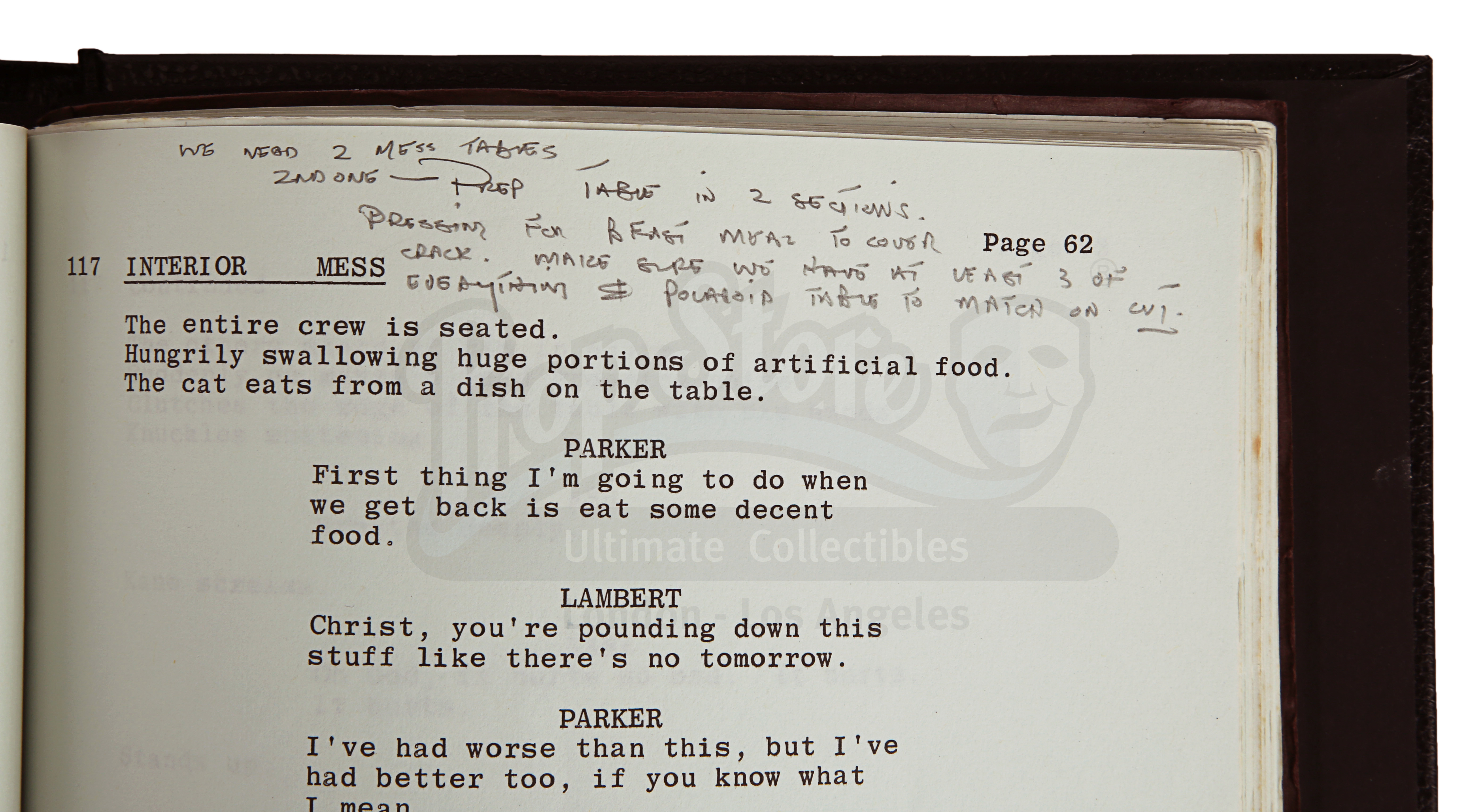 ALIEN (1979) - Roger Christian Annotated Script - Image 20 of 22