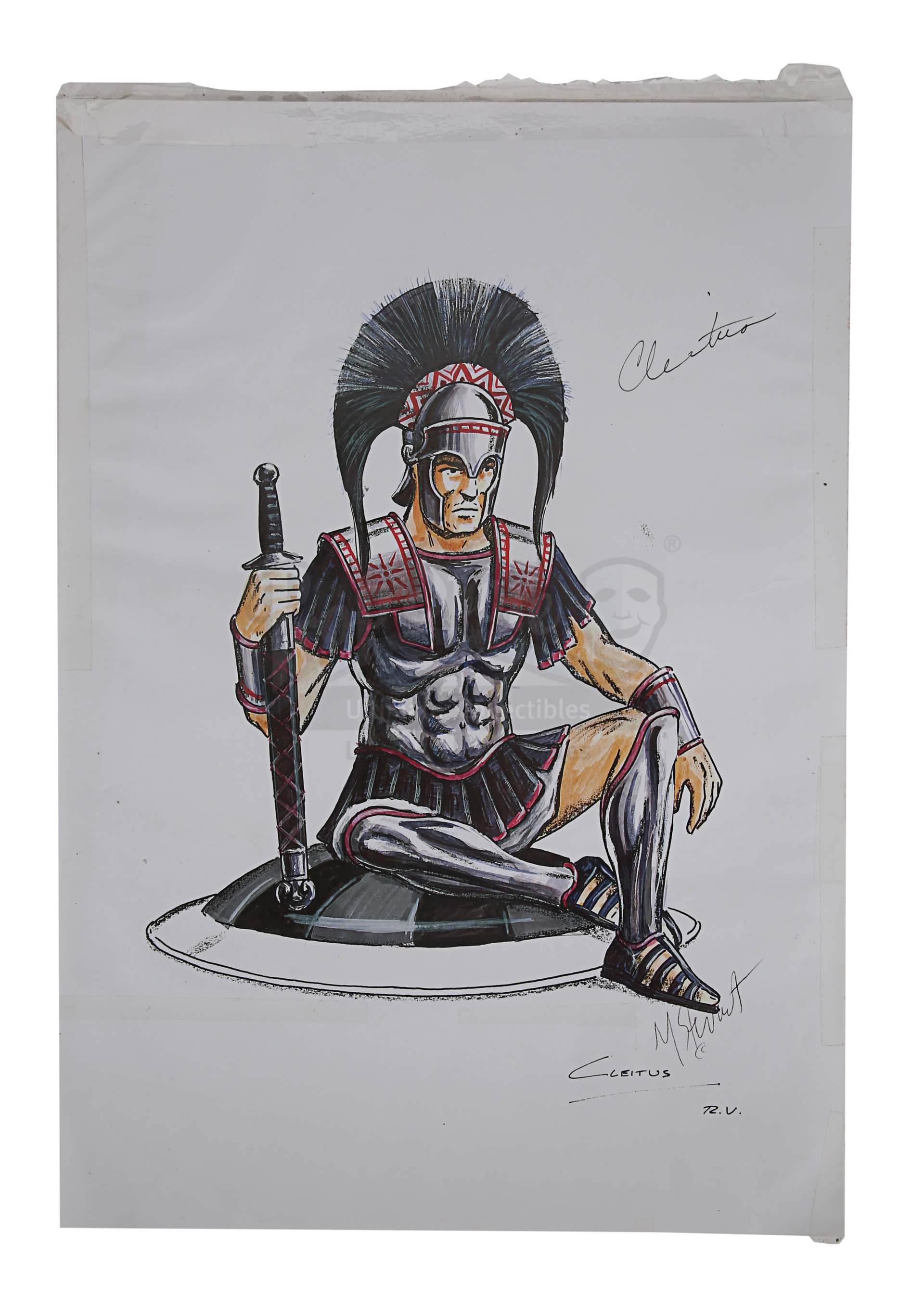 ALEXANDER (2004) - Hand-Drawn Alexander (Colin Farrell) Costume Sketches, Printed Character Concept - Image 5 of 10