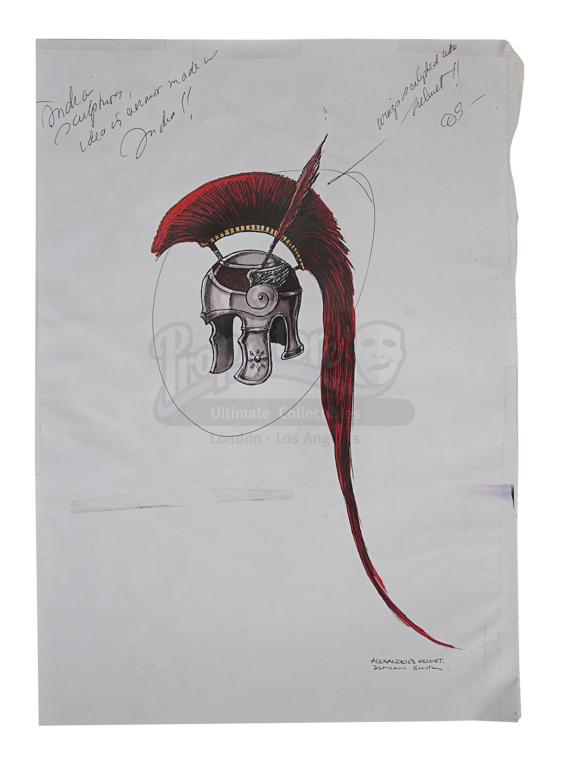 ALEXANDER (2004) - Hand-Drawn Alexander (Colin Farrell) Costume Sketches, Printed Character Concept - Image 6 of 10