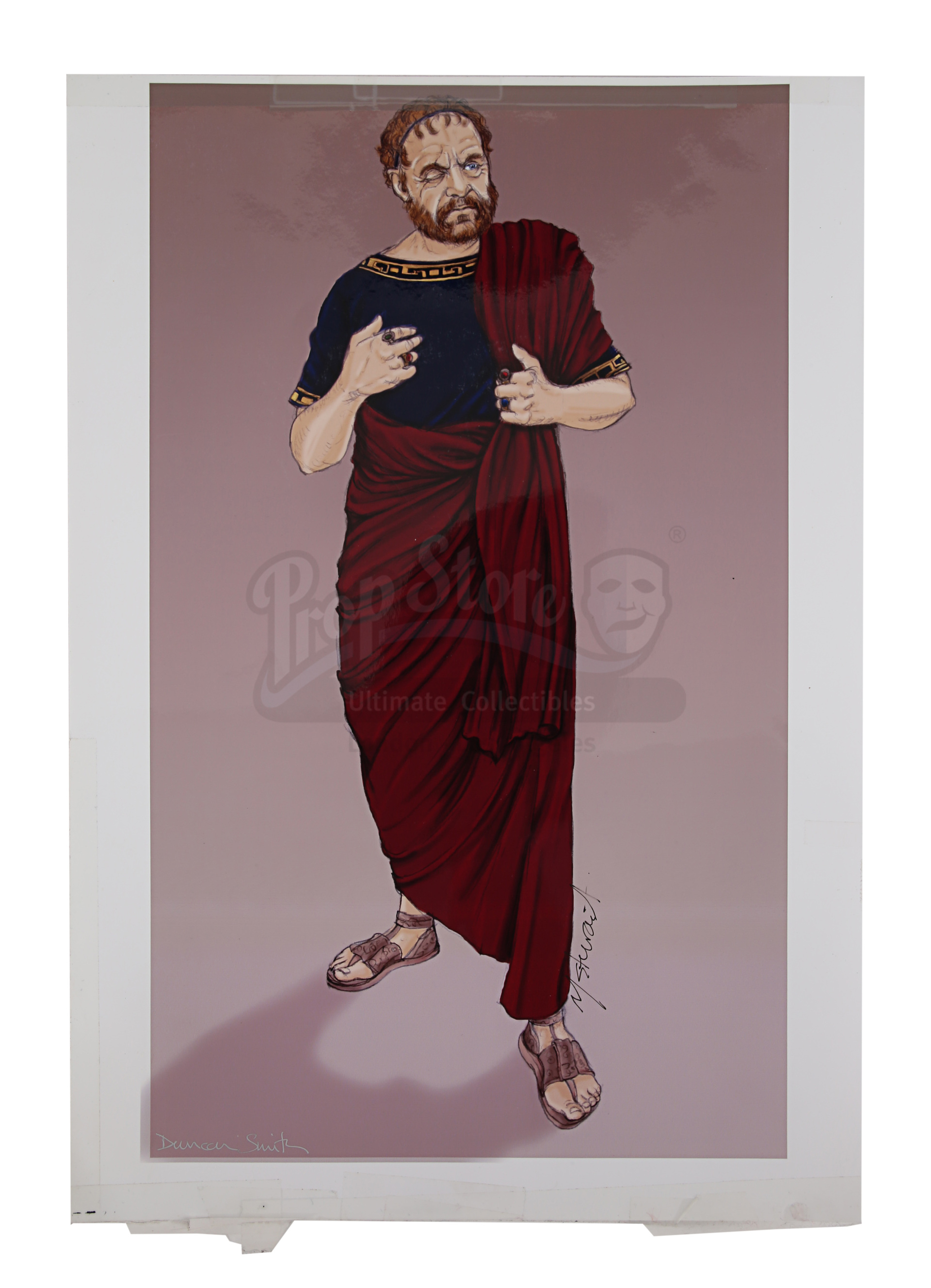 ALEXANDER (2004) - Hand-Drawn Alexander (Colin Farrell) Costume Sketches, Printed Character Concept - Image 3 of 10
