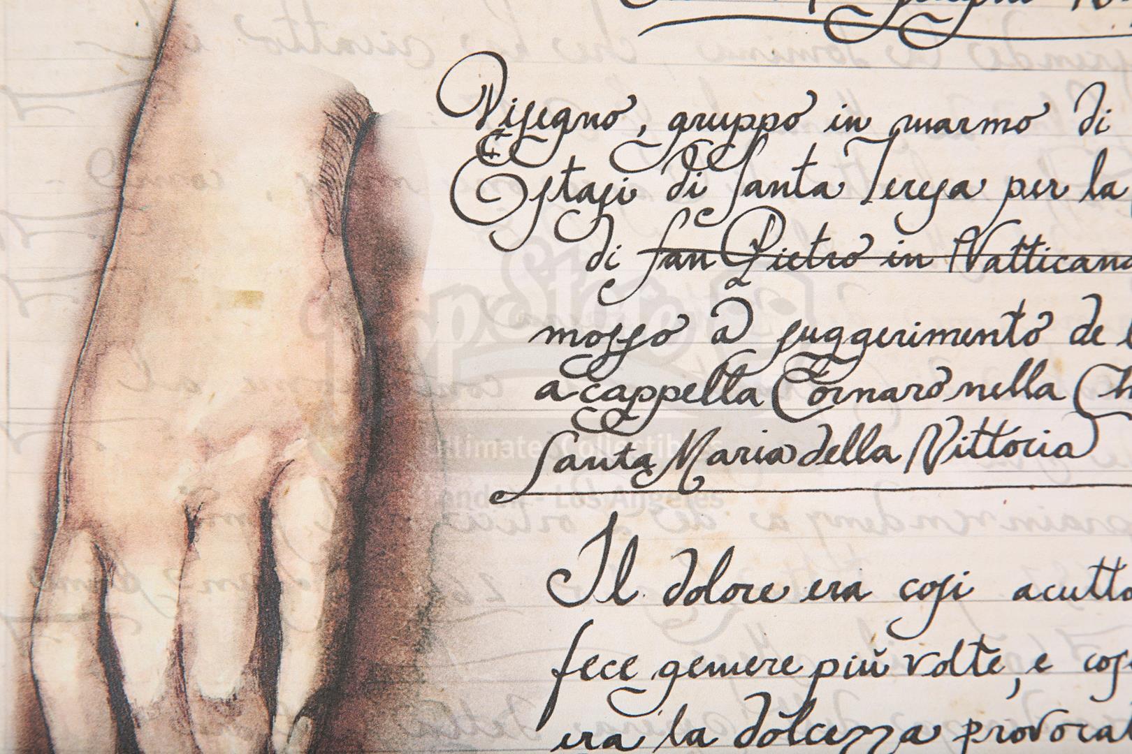"ANGELS & DEMONS (2009) - Ancient Vatican ""Bernini"" Ledger - Image 23 of 34"