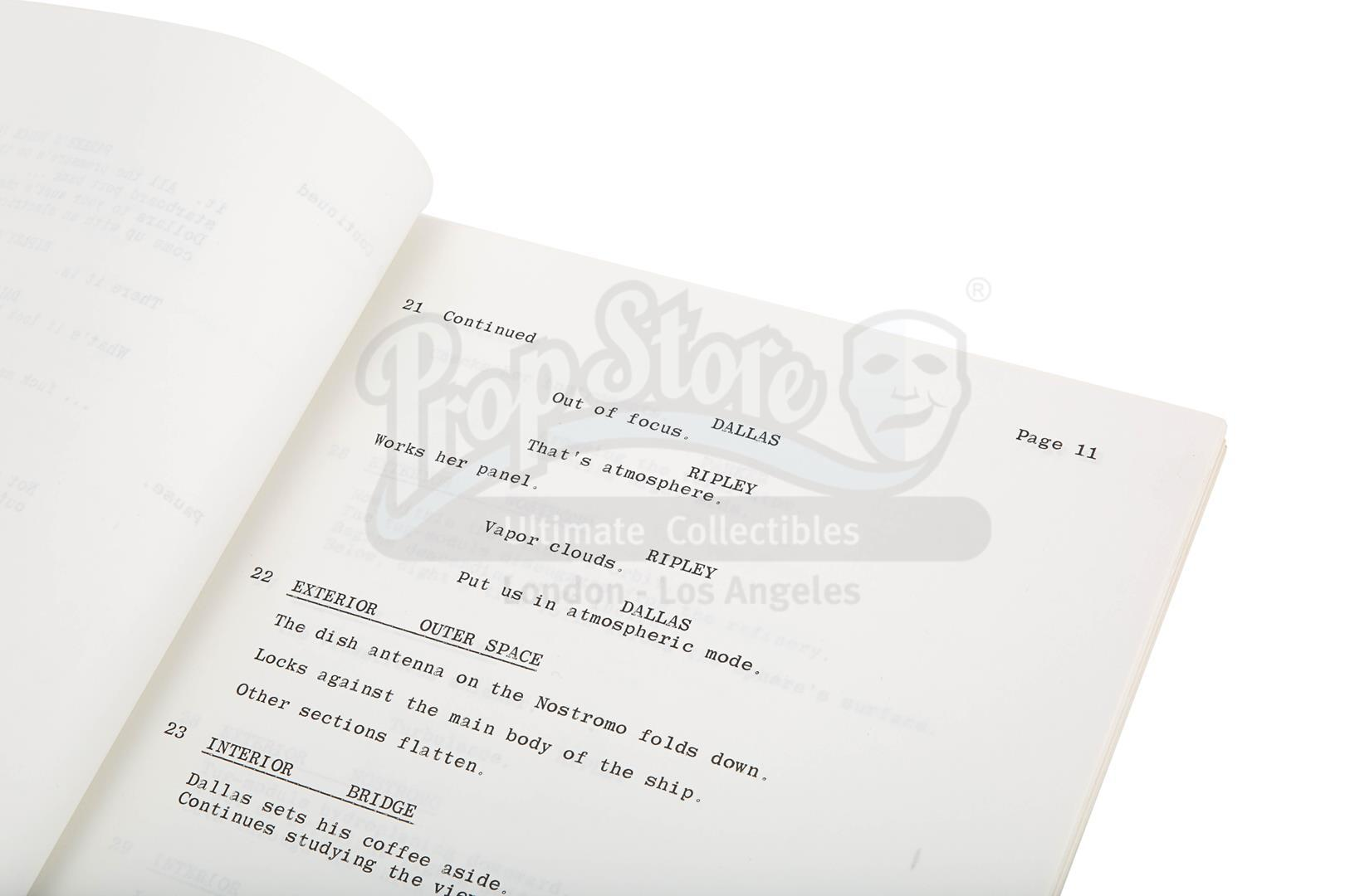 ALIEN (1979) - Revised Production-Used Script - Image 8 of 8