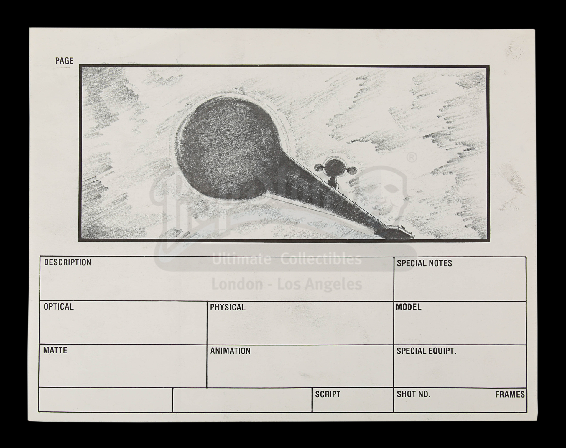 2010: THE YEAR WE MAKE CONTACT (1985) - Hand-Drawn Storyboards: Jupiter Escape - Image 4 of 9