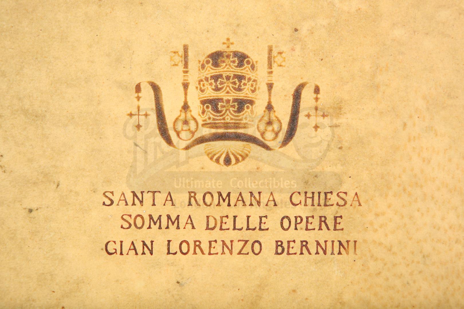 "ANGELS & DEMONS (2009) - Ancient Vatican ""Bernini"" Ledger - Image 13 of 34"