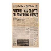 "BATMAN RETURNS (1992) - Gotham Globe ""Penguin..Man or Myth or Something Worse?"" Newspaper"