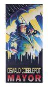 BATMAN RETURNS (1992) - Oswald Cobblepot For Mayor Election Poster
