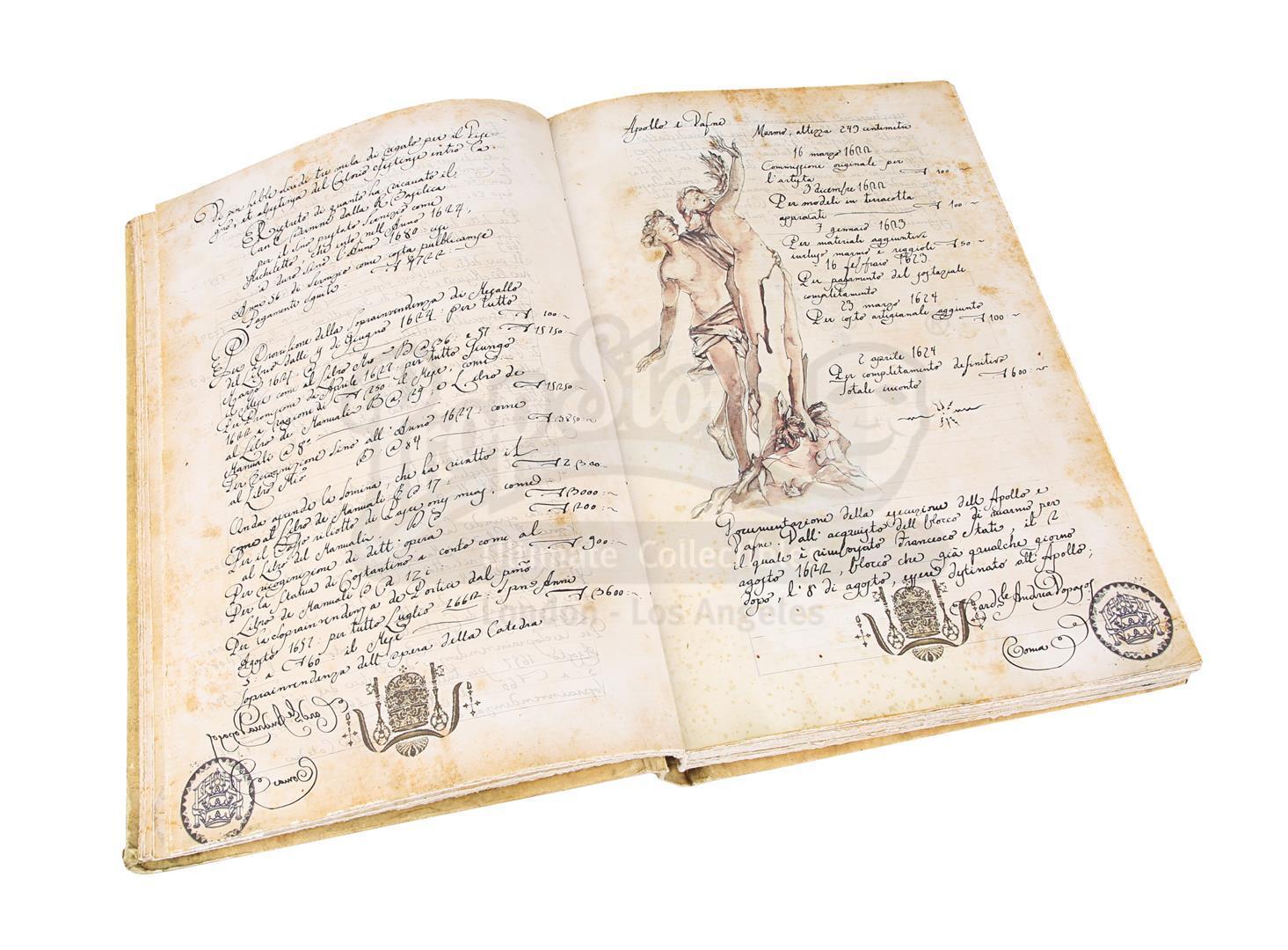 "ANGELS & DEMONS (2009) - Ancient Vatican ""Bernini"" Ledger - Image 19 of 34"