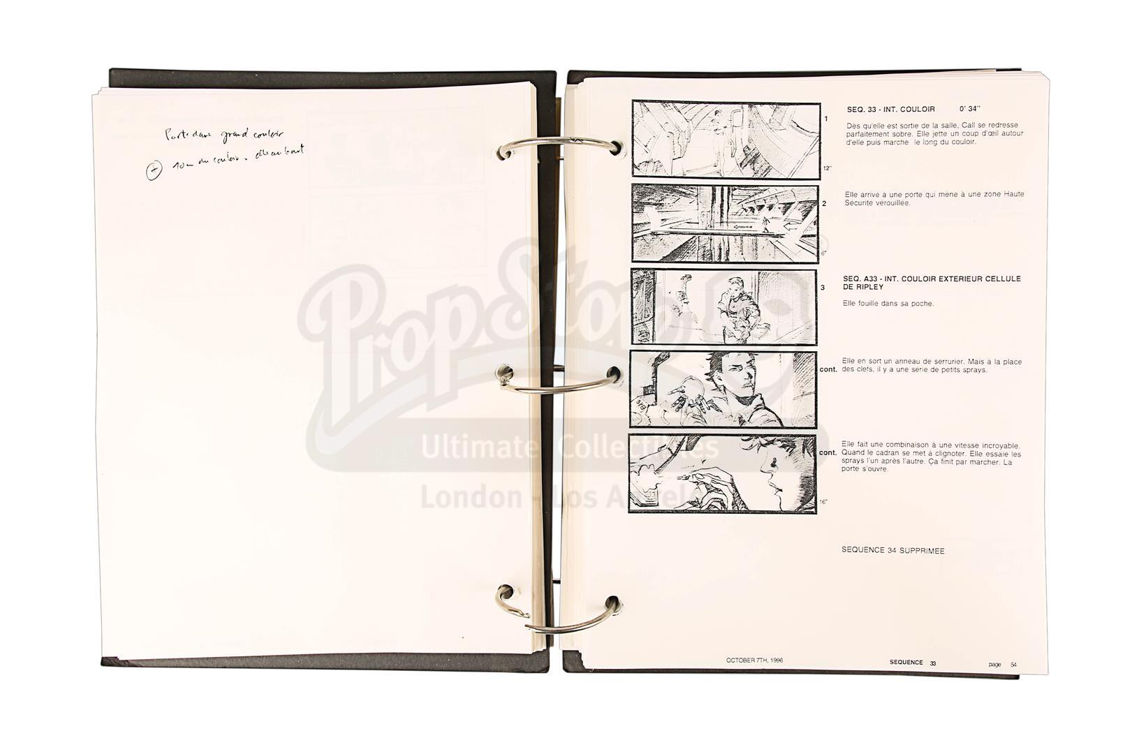 ALIEN RESURRECTION (1997) - Jean-Pierre Jeunet's Personal Storyboard Binder - Image 6 of 10