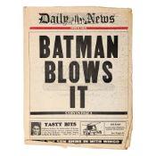 "BATMAN RETURNS (1992) - Daily News ""Batman Blows It"" Newspaper"