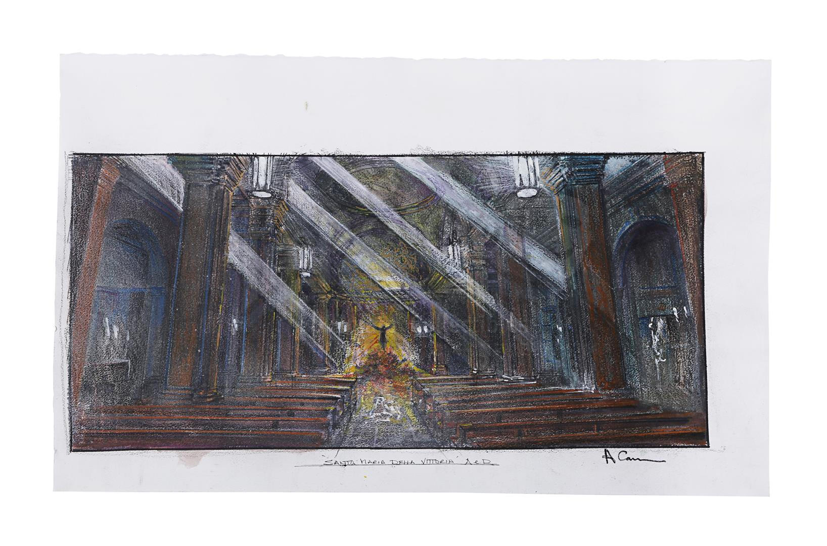 ANGELS & DEMONS (2009) - Collection of Allan Cameron Hand-painted and Printed Rome and Vatican City - Image 11 of 16