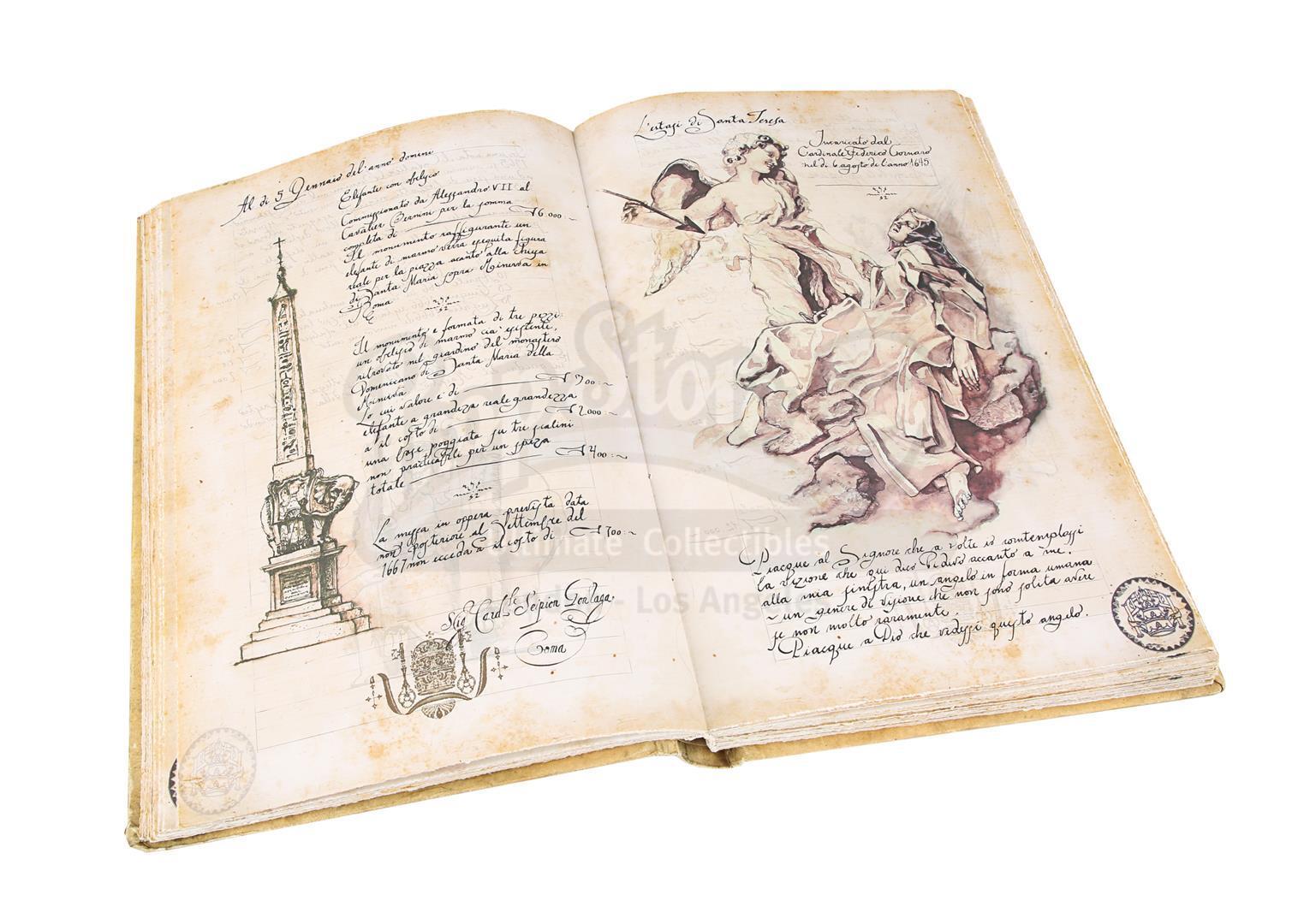 "ANGELS & DEMONS (2009) - Ancient Vatican ""Bernini"" Ledger - Image 25 of 34"