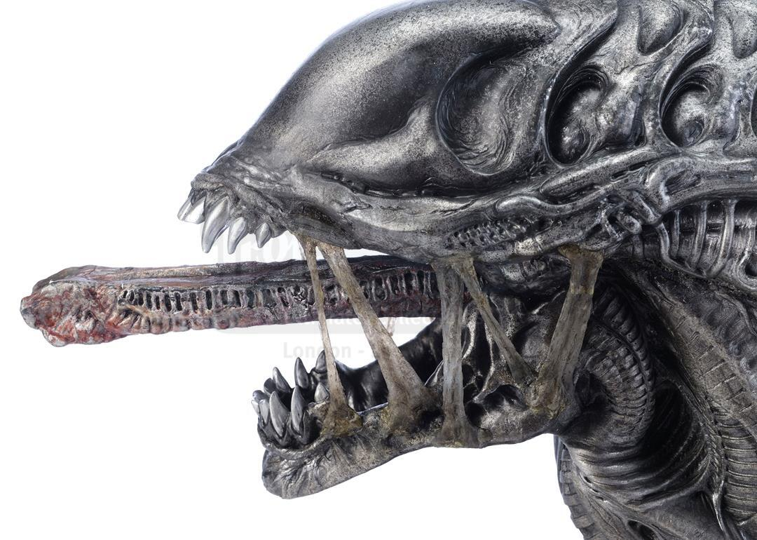 ALIENS VS. PREDATOR: REQUIEM (2007) - Xenomorph Warrior Insert Head with Display Stand - Image 8 of 10