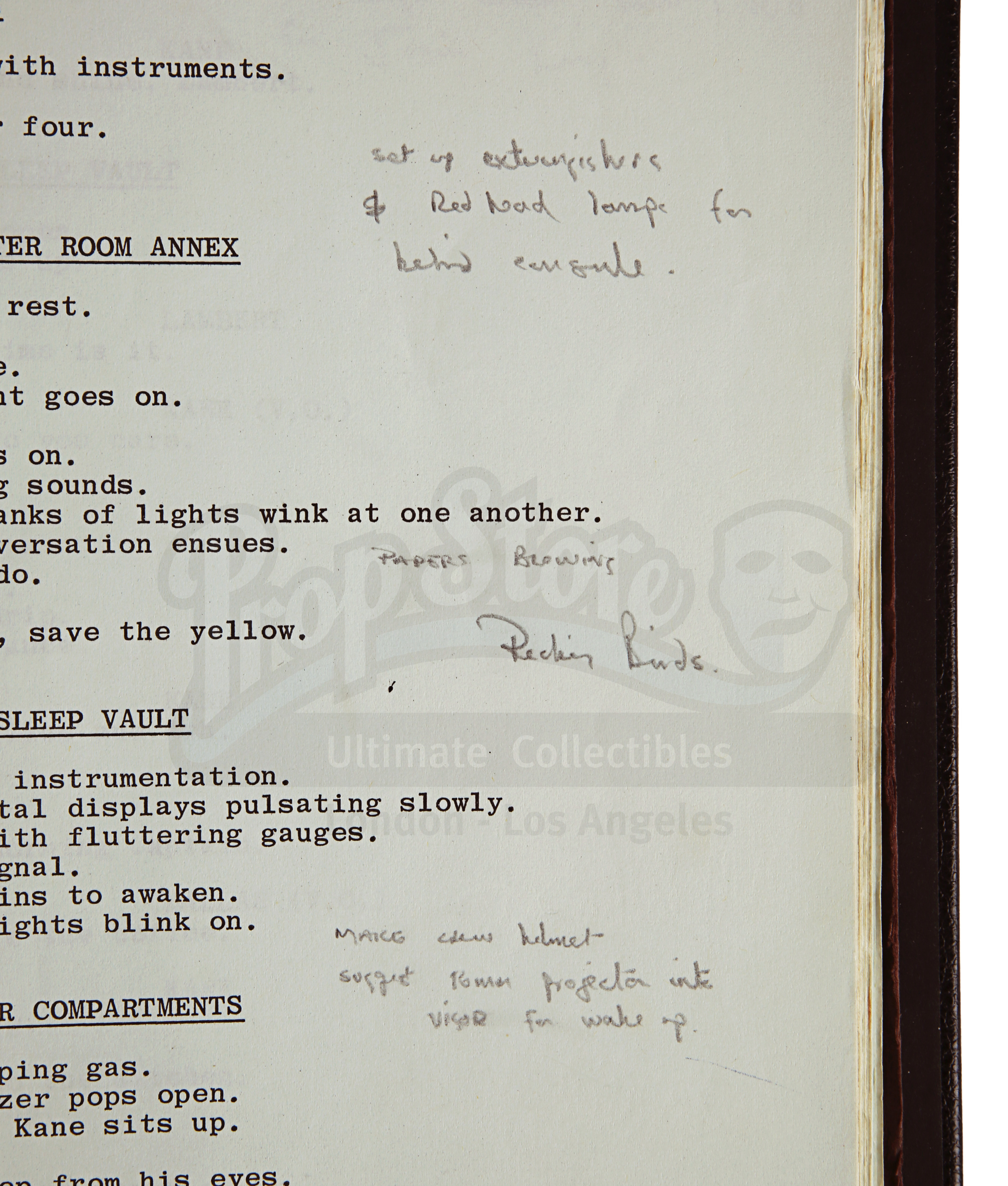 ALIEN (1979) - Roger Christian Annotated Script - Image 11 of 22
