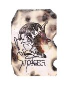 THE DARK KNIGHT (2008) - Scorched Joker Card Autographed by Heath Ledger