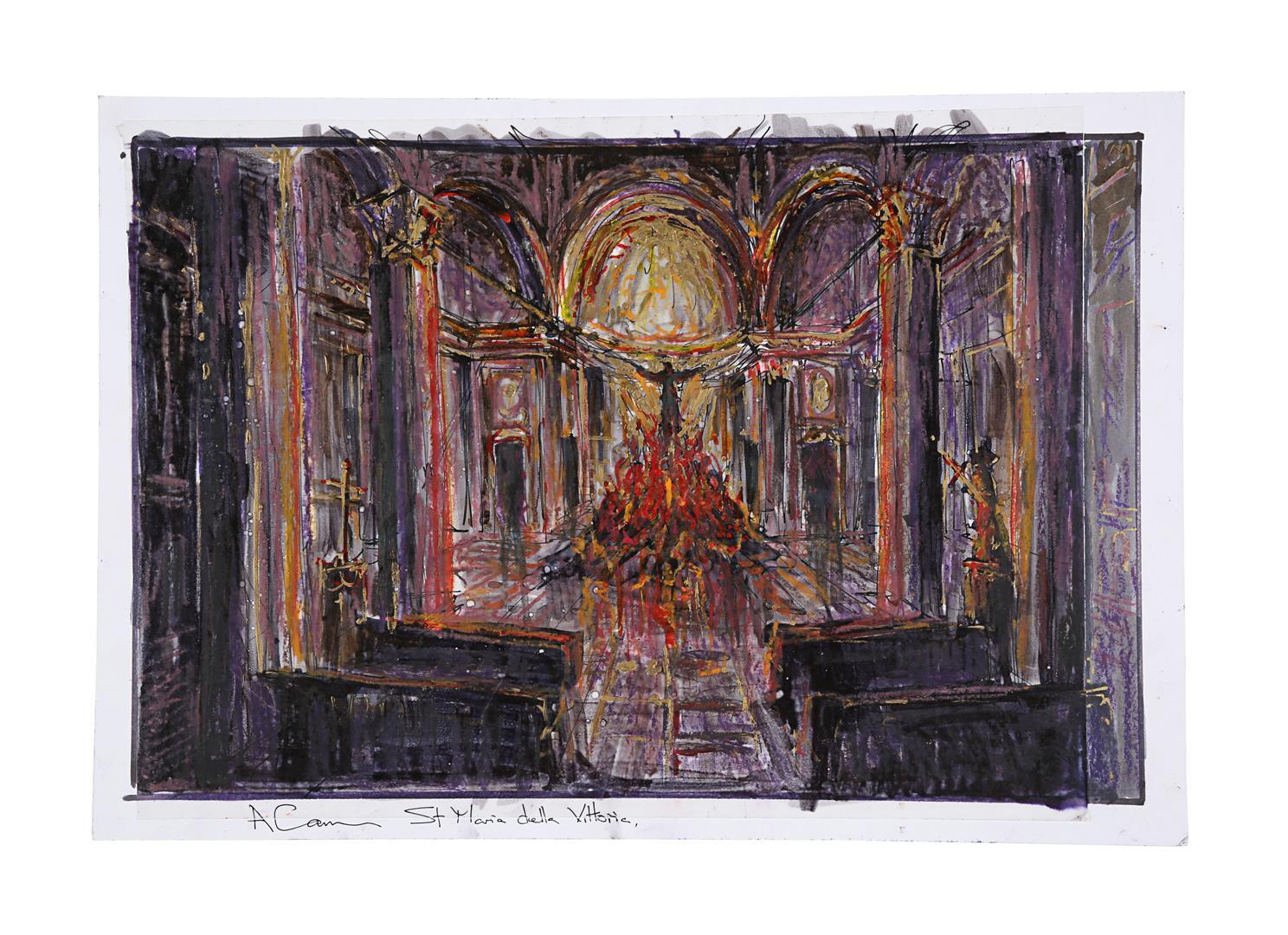 ANGELS & DEMONS (2009) - Collection of Allan Cameron Hand-painted and Printed Rome and Vatican City - Image 2 of 16