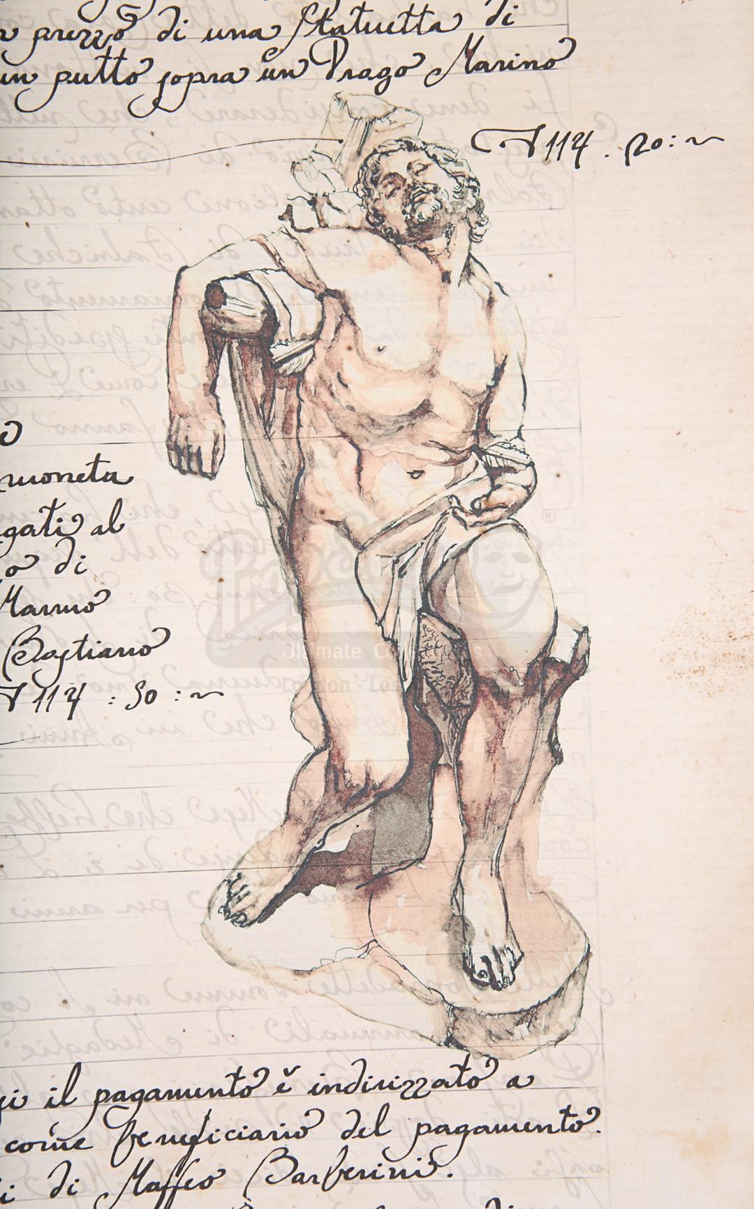 "ANGELS & DEMONS (2009) - Ancient Vatican ""Bernini"" Ledger - Image 17 of 34"