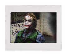 THE DARK KNIGHT (2008) - Heath Ledger 'Joker' Autographed Still