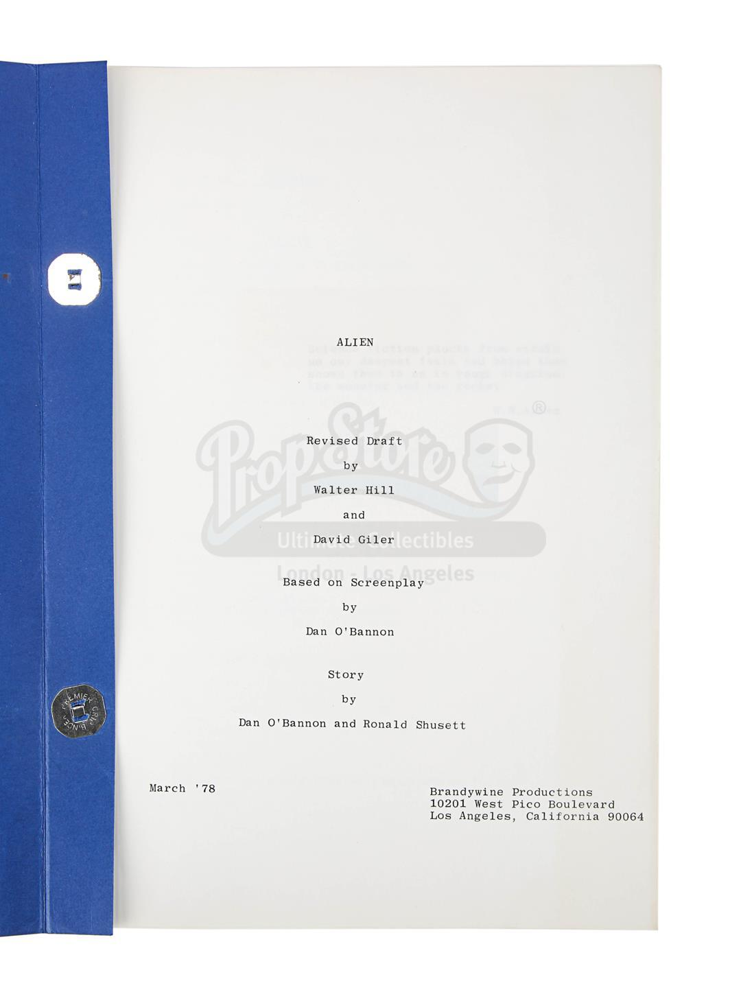 ALIEN (1979) - Revised Production-Used Script - Image 6 of 8