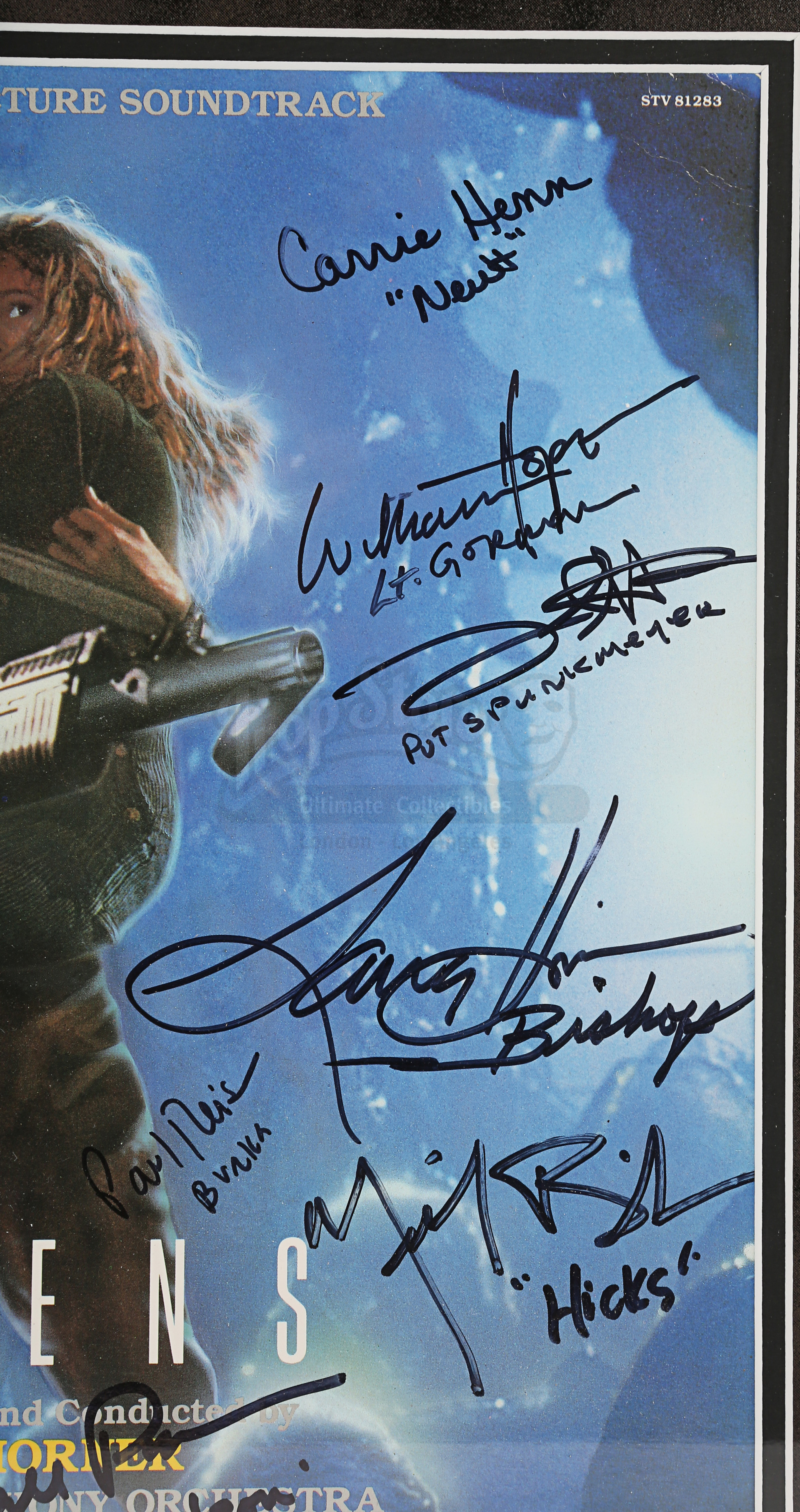 ALIENS (1986) - Framed Cast-Autographed Soundtrack Cover - Image 4 of 5