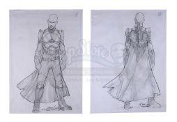 STAR TREK: NEMESIS (2002) - Mariano Diaz Hand-drawn Shinzon (Tom Hardy) Pencil Sketches
