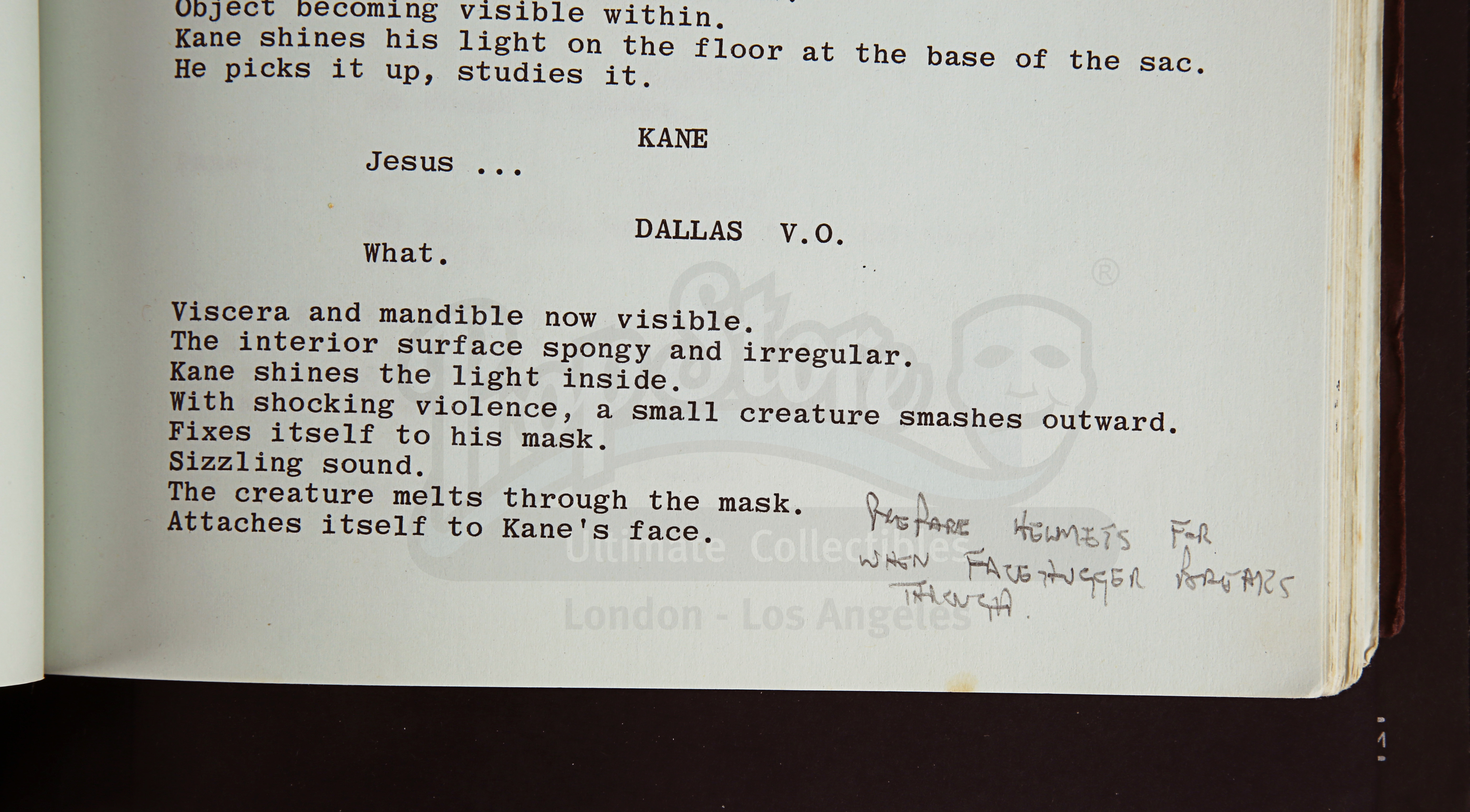 ALIEN (1979) - Roger Christian Annotated Script - Image 18 of 22