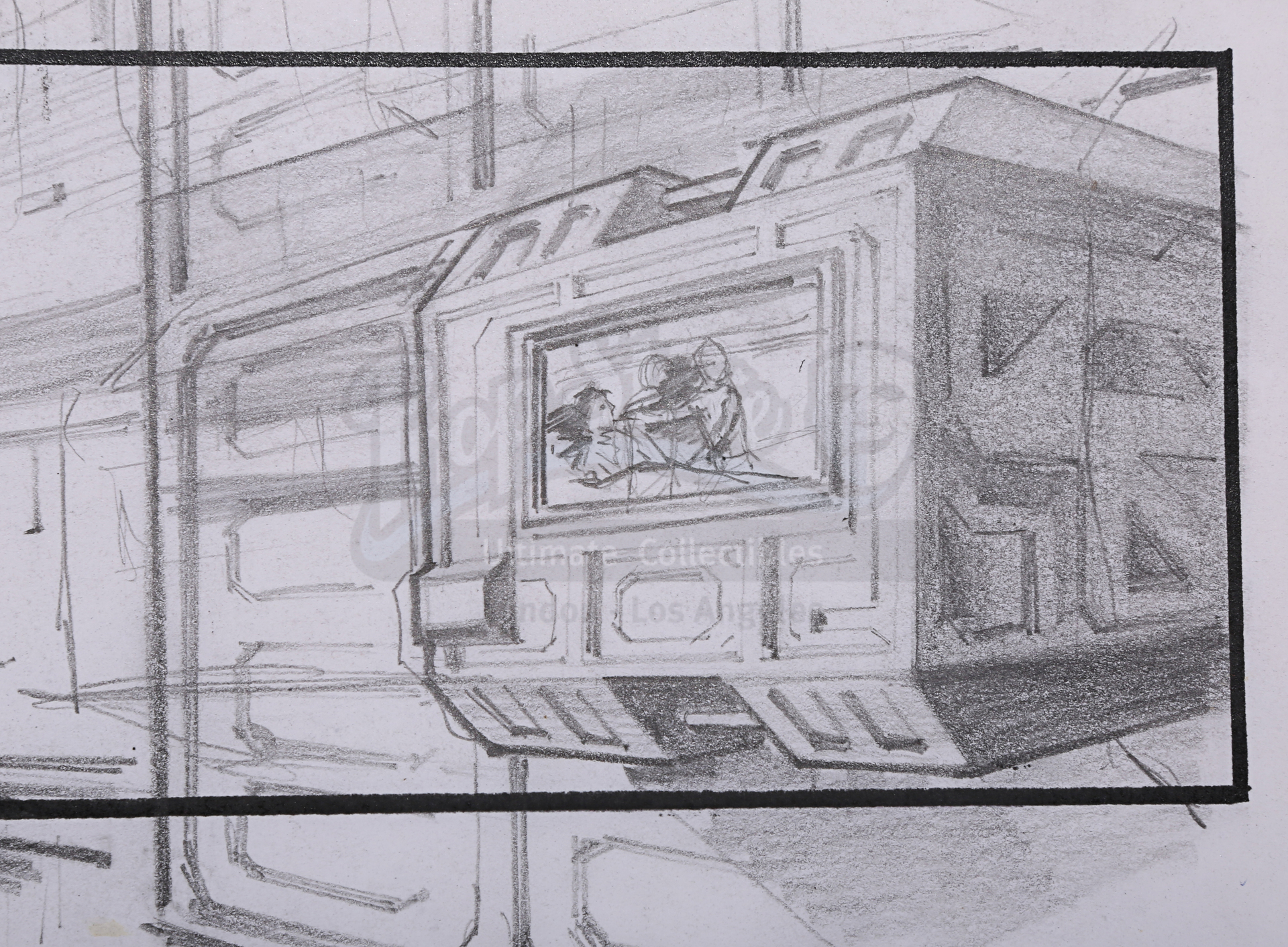 ALIENS (1986) - Two Pencil Storyboards Featuring Ripley (Sigourney Weaver) and Burke (Paul Reiser) - Image 5 of 6