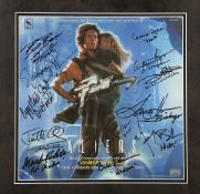 ALIENS (1986) - Framed Cast-Autographed Soundtrack Cover