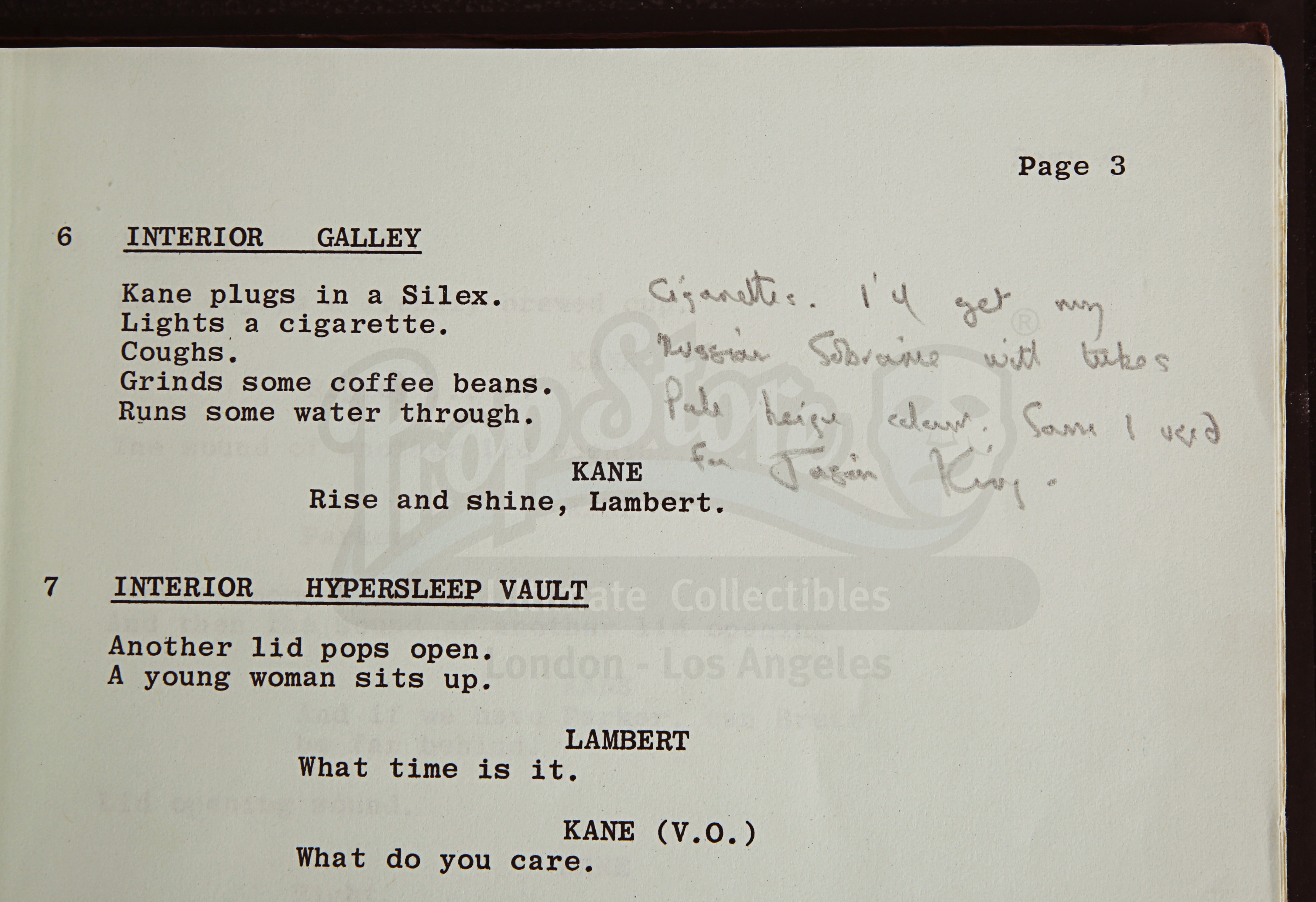 ALIEN (1979) - Roger Christian Annotated Script - Image 13 of 22