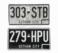BATMAN (1989) - Joker's (Jack Nicholson) Getaway Car Licence Plate