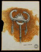 CONAN THE BARBARIAN (1982) - Hand-drawn Ron Cobb Thulsa Doom Standard Concept Sketch