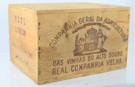 An unopened crate of twelve bottles Quinta do Sibio 1982 vintage port