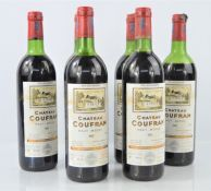 Six bottles of vintage Chateau Coufran 1980 red wine