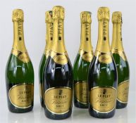 Six bottles of le Piat Reserve Brut sparkling wine