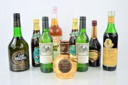 A group of vintage liqueurs, sherry , wine to include Mozart, Croft limited edition sherry , Berry
