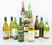 Eleven bottles of various wines to include - Isral Oliver , Dashbosch , Saint veran, Liebfraumilch