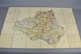 A 19th century ordnance survey map of the Country of Durham