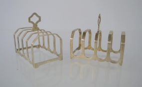 A pair of silver toast racks by Adie Brothers, Birmingham 1939.