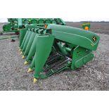 John Deere 693 corn head, poly, fluted rolls, hyd deck plates, pto shafts, SN 710815