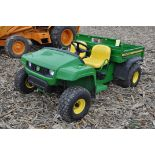 John Deere TS Gator, 4x2, gas, manual dump bed, headlights, 112 hrs, SN 091053