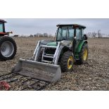 John Deere 5520 utility tractor, MFWD, 18.4 R 30 rear, 12.4-24 front, rear wheel wts, 2 hyd remotes,