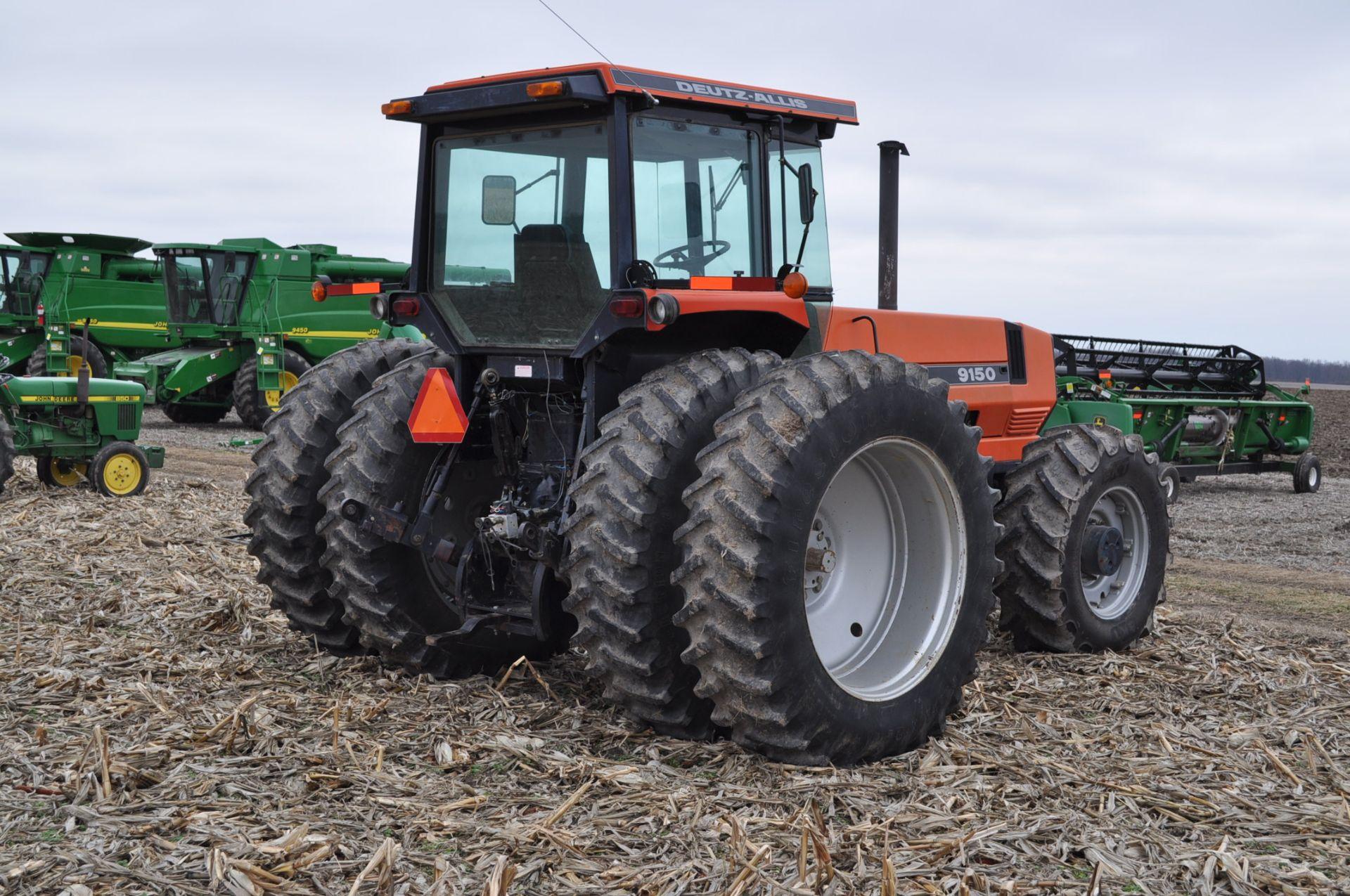 Deutz Allis 9150 tractor, MFWD, 18.4 R 42 duals, 420/85 R 28 tires, 6+3 speed range, 2 hyd - Image 3 of 20