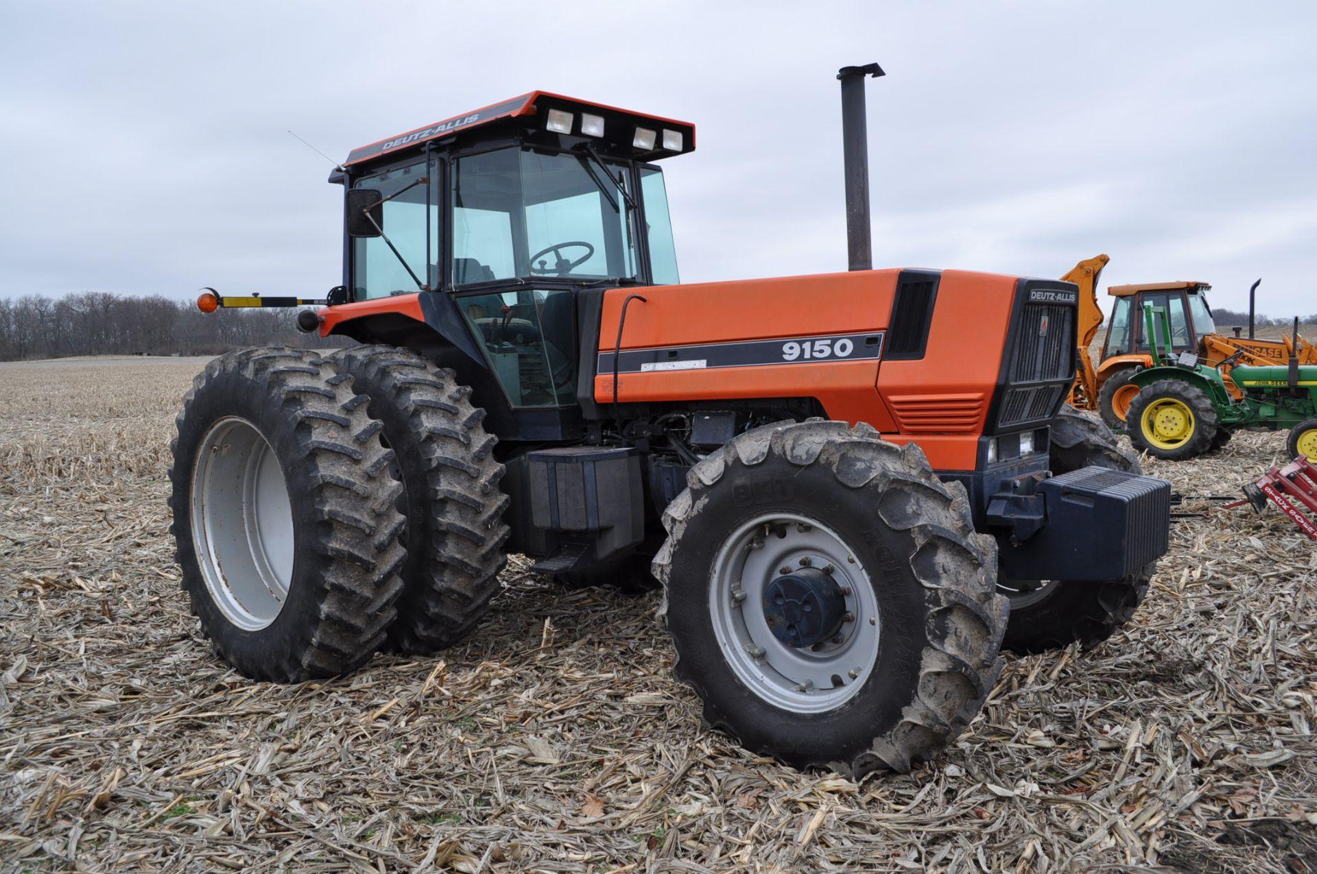 Deutz Allis 9150 tractor, MFWD, 18.4 R 42 duals, 420/85 R 28 tires, 6+3 speed range, 2 hyd - Image 4 of 20
