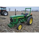 John Deere 850 utility tractor, diesel, 12.4-24 rear, 5.00-16 front, 2 hyd remotes, 3 pt, 540 pto,