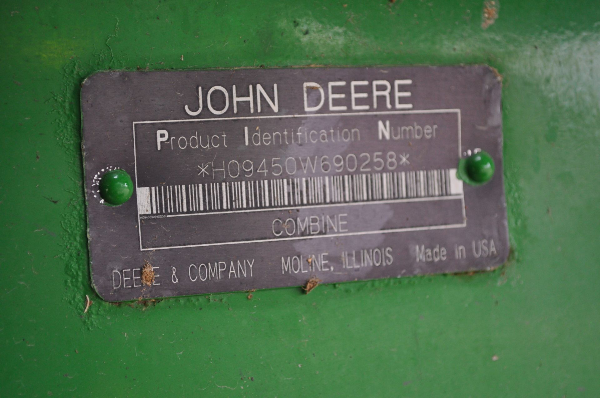 John Deere 9450 combine, 30.5-L32 drive, NEW 14.9-24 rear, chopper, chaff spreader, Mauer bin - Image 15 of 24