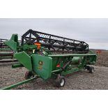 20' John Deere 920F grain head, pto shafts, hyd reel, hyd fore/aft, SN 685715