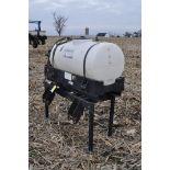Redball 110 gallon poly tankw/ 12 volt pump, 3 pt.