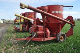 Gehl 65 grinder/mixer, ear corn chute, screens, SN 19827