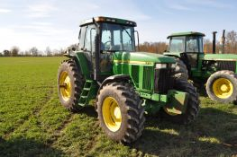 John Deere 7810 tractor, MFWD, 19-speed, power-shift, 3 hydr remotes, 3-pt, 1000 PTO, front weights,