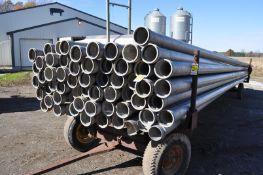 """55) 30'x 6"""" aluminum irrigation pipes"""