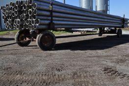 30' running gear pipe trailer